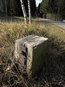 Verschwundenes Holzkreuz