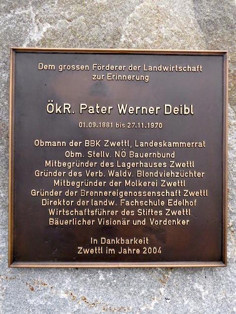 Pater Werner Deibl Denkmal