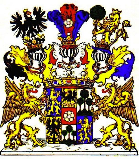 Wappen der Freiherren von Waldstätten von 1754