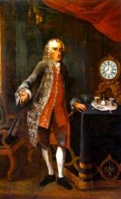 Foto: Dr. Alfred Walstätten Reichshofrat Dominik Joseph Freiherr Hayek von Waldstätten 1771 Gemälde von F. Redel, 1771
