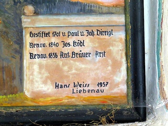 """Wegkapelle """"Zum eisernen Bild"""""""